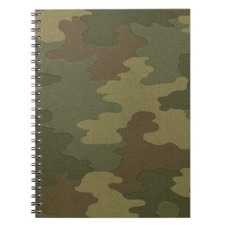 Cuaderno espiral del camuflaje oscuro