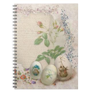 Cuaderno espiral del collage de Pascua