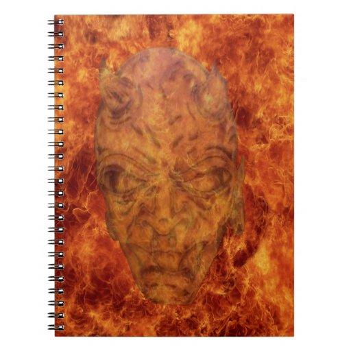 Cuaderno espiral del demonio del fuego