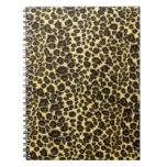 Cuaderno espiral del estampado leopardo