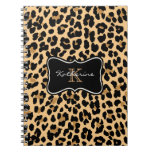 Cuaderno espiral del estampado leopardo de encargo