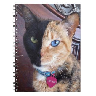 Cuaderno espiral del gato de Venus