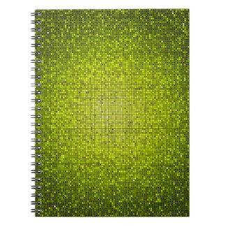 Cuaderno espiral del Glitz del disco de la lenteju