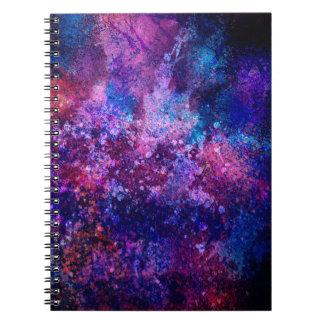 Cuaderno espiral del Grunge artístico