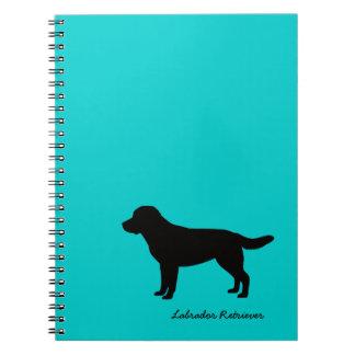 Cuaderno espiral del labrador retriever