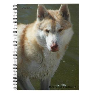 Cuaderno espiral del lobo
