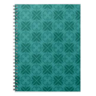 Cuaderno espiral del modelo de los remolinos Verd
