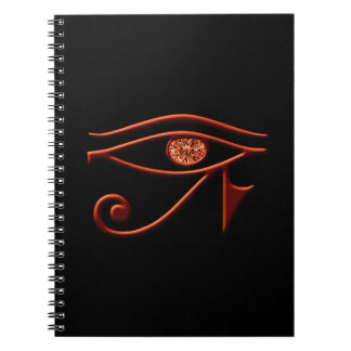 Cuaderno espiral del ojo ardiente del Ra