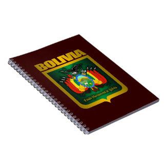 Cuaderno espiral del oro de Bolivia
