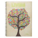 Cuaderno espiral del pájaro del dibujo artístico e