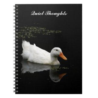 Cuaderno espiral del pato de los pensamientos