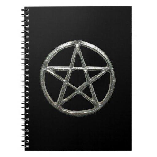Cuaderno espiral del pentáculo