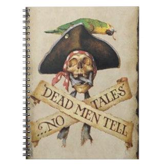 Cuaderno espiral del pirata muerto
