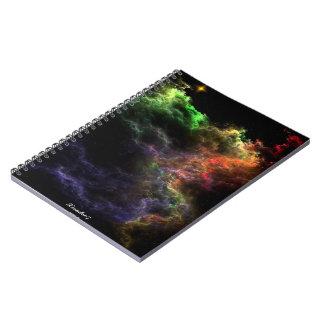 Cuaderno espiral del racimo de la nebulosa del mos