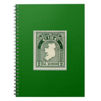 Cuaderno espiral del sello de Irlanda