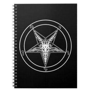 Cuaderno espiral del viejo estilo de Baphomet