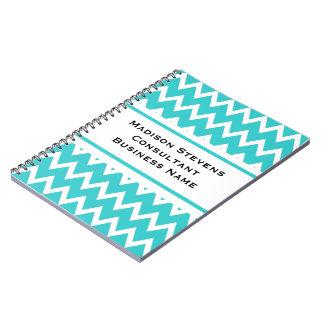 Cuaderno espiral del zigzag elegante moderno de la