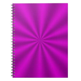 Cuaderno espiral fucsia de Starburst