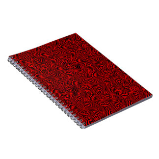 Cuaderno espiral metálico rojo/del negro