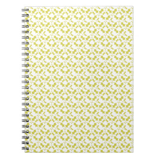 Cuaderno espiral, modelo del muérdago, amarillo