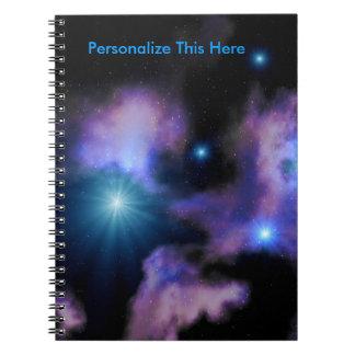 Cuaderno espiral personalizado de las nebulosas de