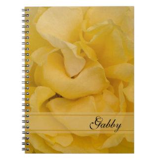 Cuaderno espiral personalizado del rosa amarillo