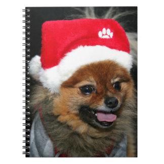 Cuaderno espiral pomeranian del navidad