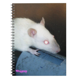 cuaderno espiral siamés de la rata del punto azul