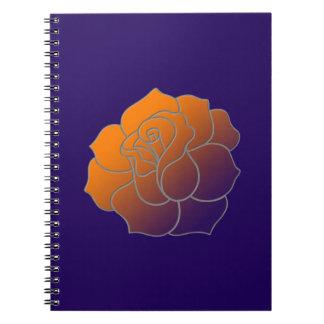 Cuaderno espiral subió salida del sol