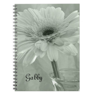 Cuaderno espiral teñido verde personalizado de la