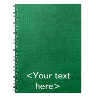 Cuaderno espiral verde de Stockinette