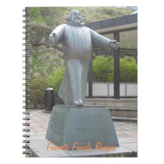 Cuaderno: Estatua rotunda del bajo de Petter Notebook