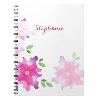 Cuaderno estilizado de las azaleas