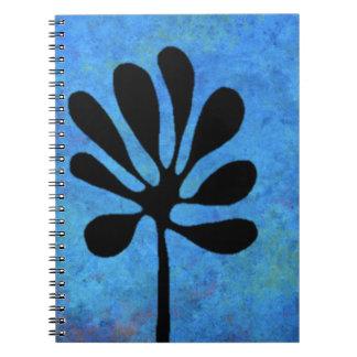 Cuaderno estilizado del árbol del color de agua