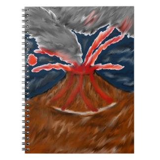 Cuaderno estilizado del volcán