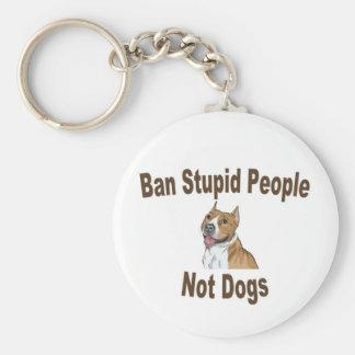 Cuaderno estúpido de la gente de la prohibición llavero redondo tipo pin