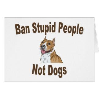 Cuaderno estúpido de la gente de la prohibición tarjeta