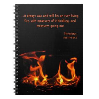 Cuaderno eterno del fuego de Heraclitus