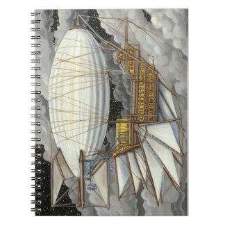 Cuaderno expreso de Steampunk del dirigible