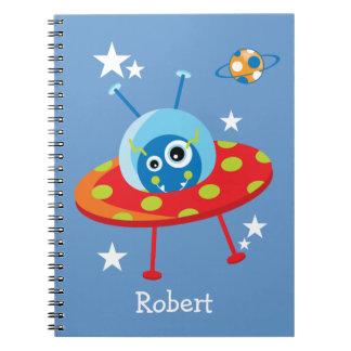 Cuaderno extranjero de la nave espacial