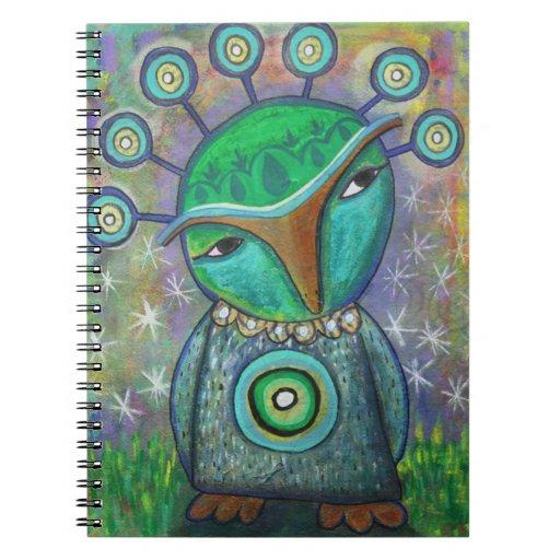 Cuaderno extranjero del búho