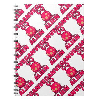 Cuaderno extranjero rosado del vegano
