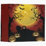 cuaderno fantasmagórico de Halloween de los árbole