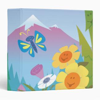 cuaderno feliz de la escena de la montaña