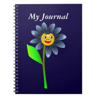 Cuaderno feliz de la flor