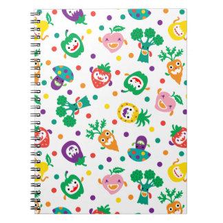 Cuaderno feliz de las verduras y de la fruta