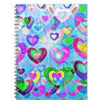 Cuaderno feliz de los colores en colores pastel de