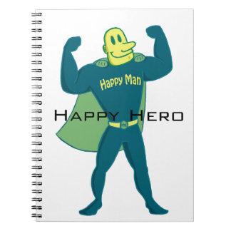 Cuaderno feliz del héroe