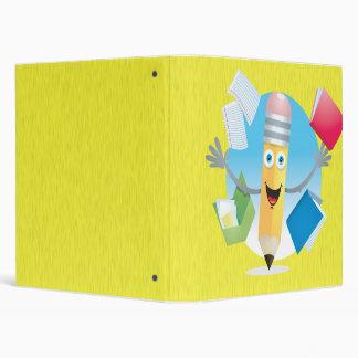 Cuaderno feliz del lápiz de la escuela