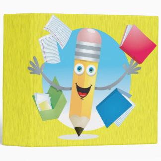 """Cuaderno feliz del lápiz de la escuela carpeta 2"""""""